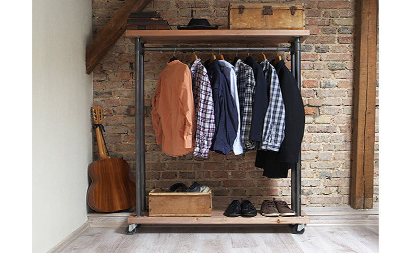 clothes stored in loft