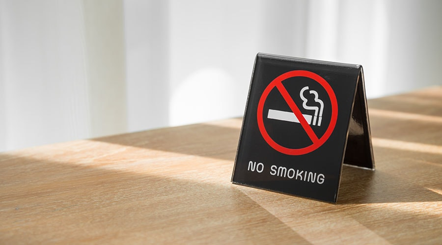 no smoking sign in home