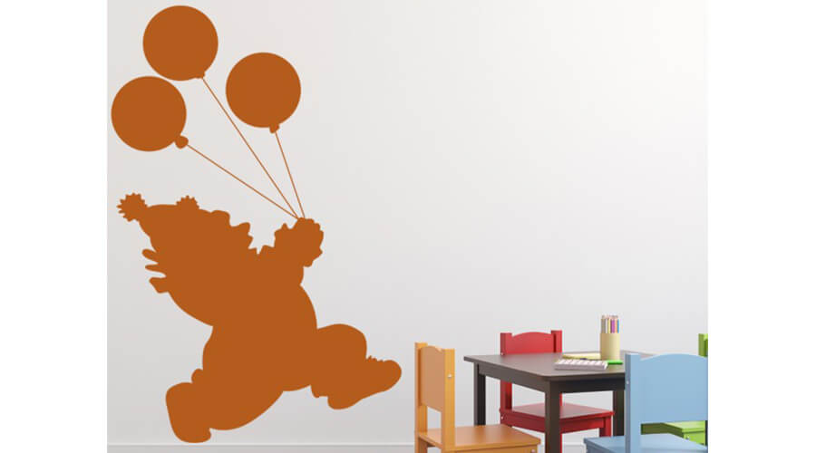 clown bedroom wall stickers from FunTimeToyCompany