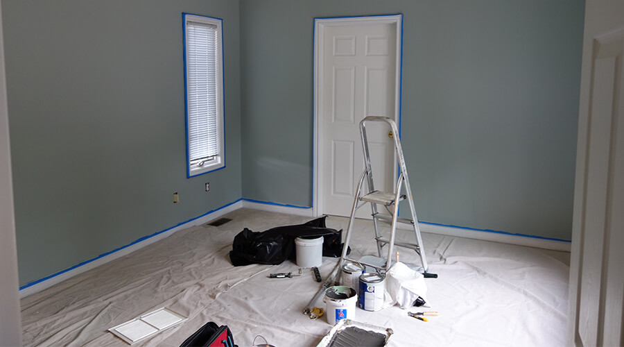painting bedroom blue