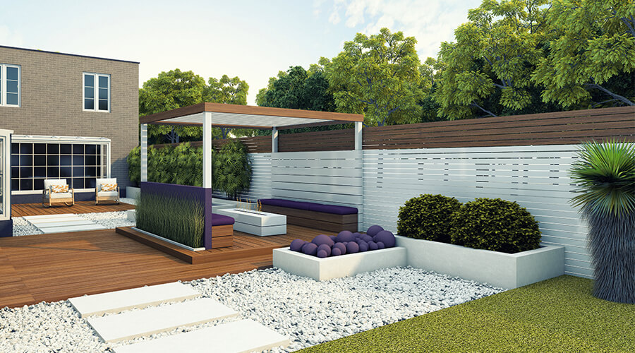 luxury garden with landscaping