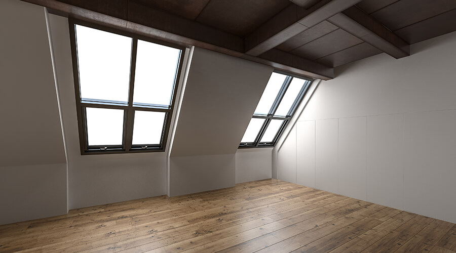 loft conversion with big windows