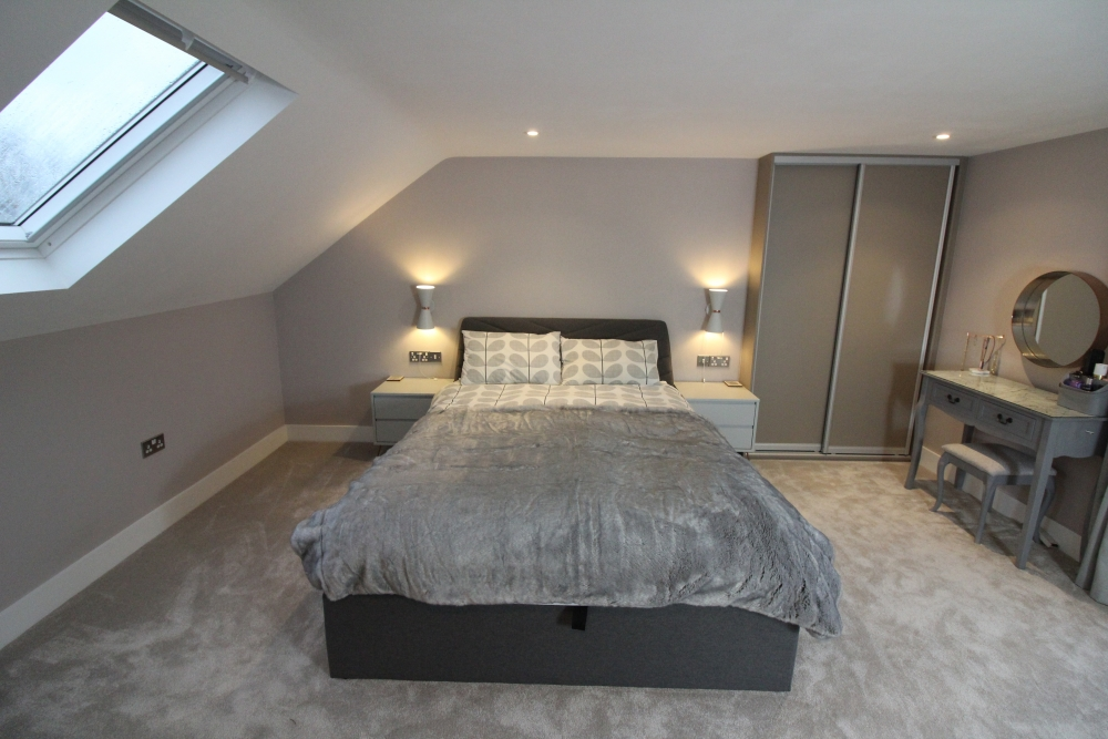 grey bedroom velux window