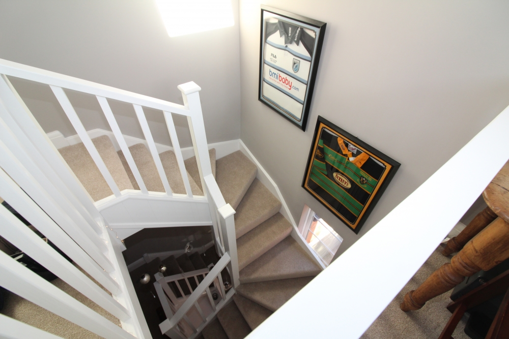 looking down stairs