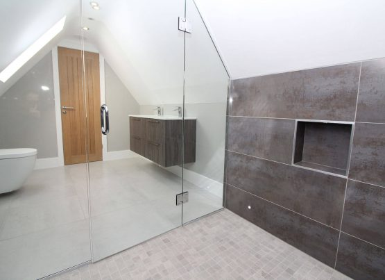 Stylish Grey Tiled Bathroom