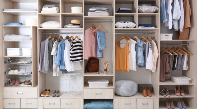 organised wardrobe