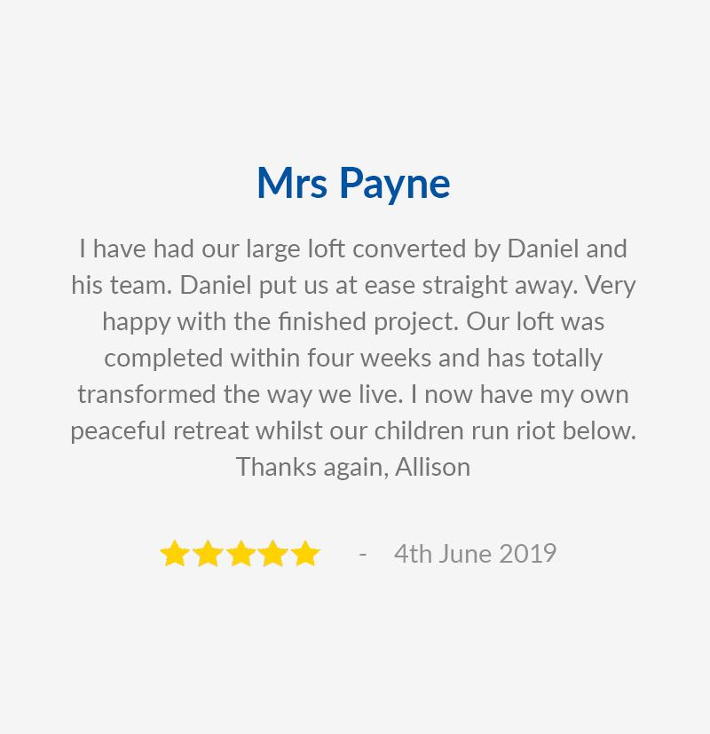 Mrs Payne Testimonial