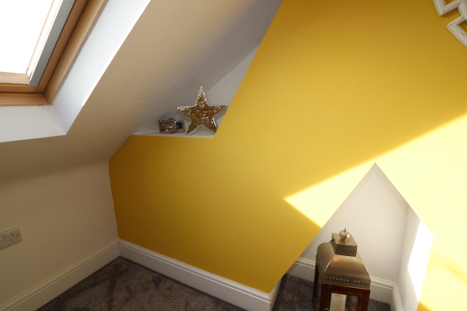 yellow wall interior