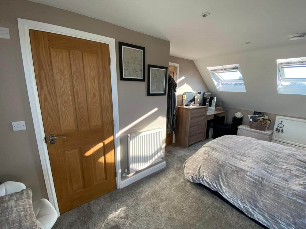 brand new door in room