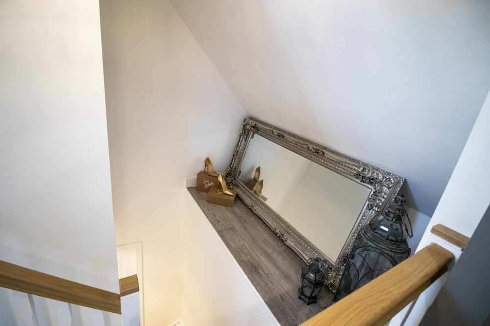 mirror on the stairs