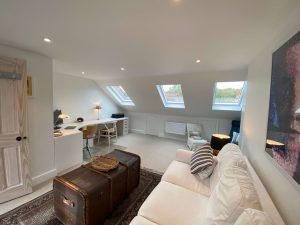 Living room in loft conversion