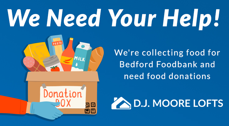 Help Us Donate To Bedford Food Bank!